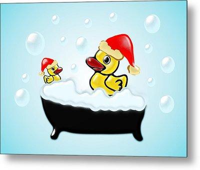Christmas Ducks Metal Print by Anastasiya Malakhova