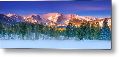 Christmas Eve At Sprague Lake Metal Print