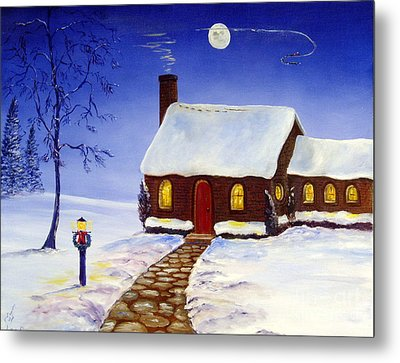 Metal Print featuring the painting Christmas Eve by Lee Piper