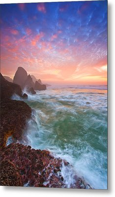 Christmas Eve Sunset Metal Print by Darren  White