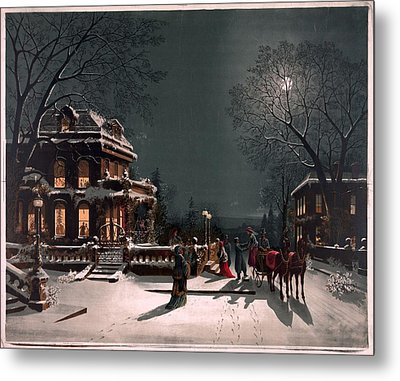 Christmas Eve Metal Print by Unknown