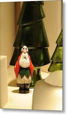 Christmas Figurine I Metal Print by Harold E McCray