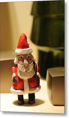 Christmas Figurine II Metal Print by Harold E McCray