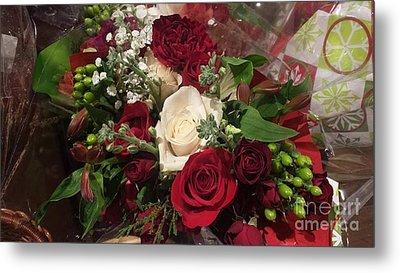 Christmas Floral Bouquet Metal Print
