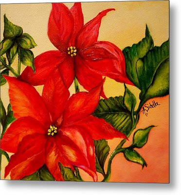 Christmas Flowers Metal Print