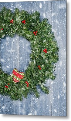 Christmas Garland Metal Print