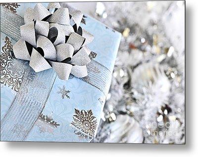 Christmas Gift Box Metal Print by Elena Elisseeva