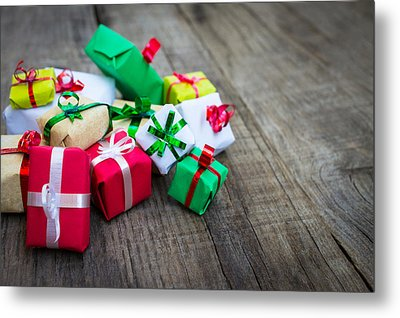 Christmas Gifts Metal Print by Aged Pixel