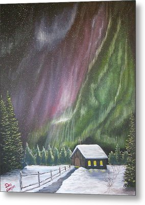 Metal Print featuring the painting Christmas Glory  by Dan Wagner