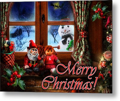 Christmas Greeting Card Vi Metal Print