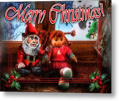 Christmas Greeting Card Vii Metal Print