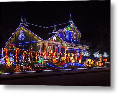 Christmas House Metal Print by Garry Gay