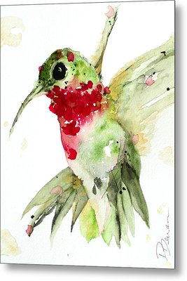 Christmas Hummer Metal Print by Dawn Derman