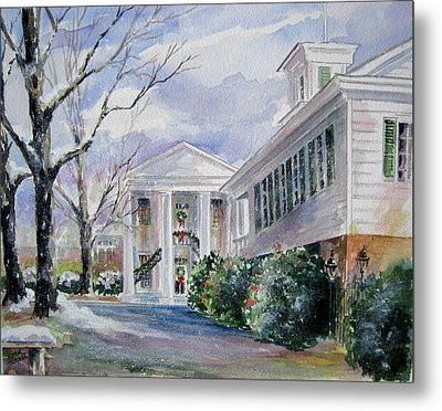 Metal Print featuring the painting Christmas In Cheraw Prints by Gloria Turner