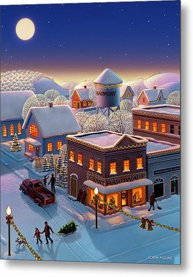 Christmas In Harmony Metal Print by Robin Moline