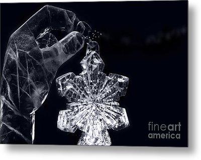 Christmas In Ice Metal Print by Sharon Mau