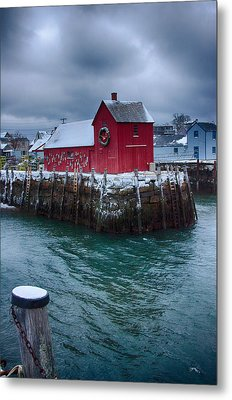 Christmas In Rockport Massachusetts Metal Print by Jeff Folger