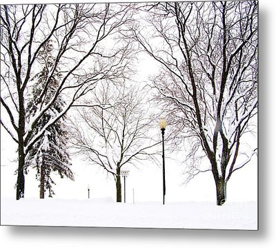Metal Print featuring the photograph Christmas In Skaneateles by Margie Amberge