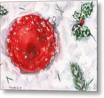Christmas In The Snow Metal Print