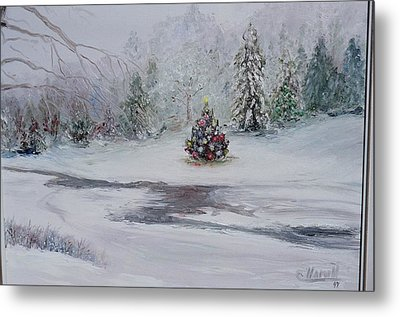 Christmas In The Woods Metal Print by Catherine Hamill