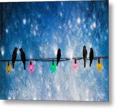 Christmas Lights Metal Print by Bob Orsillo