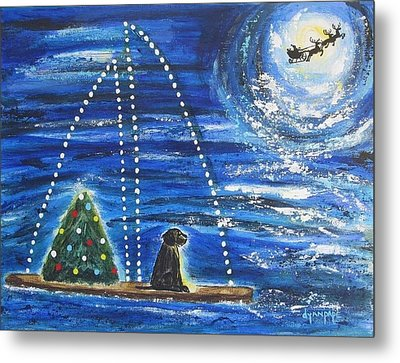 Metal Print featuring the painting Christmas Magic by Diane Pape