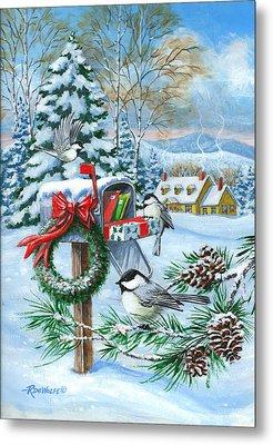 Christmas Mail Metal Print by Richard De Wolfe