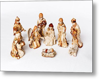 Christmas Nativity Metal Print by Andy Crawford