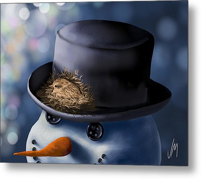 Christmas Nest Metal Print by Veronica Minozzi