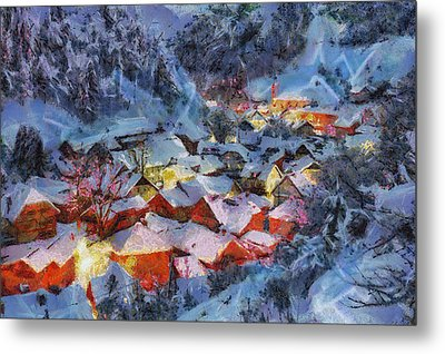 Christmas Night Metal Print by Georgi Dimitrov