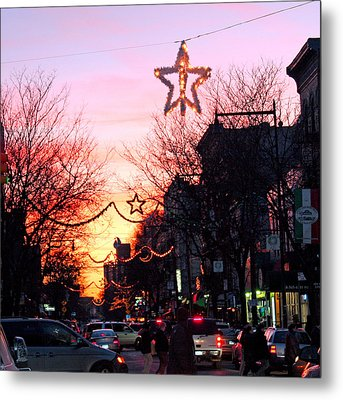 Metal Print featuring the photograph Christmas On Arthur Avenue by Aurelio Zucco