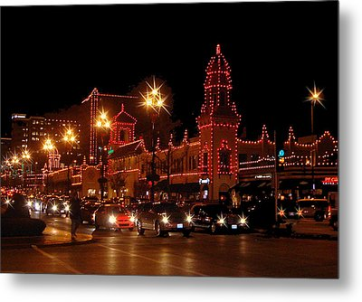 Christmas On The Plaza Metal Print by Ellen Tully