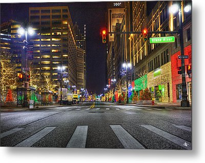 Christmas On Woodward Metal Print