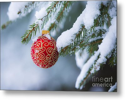Christmas Ornament Metal Print by Diane Diederich