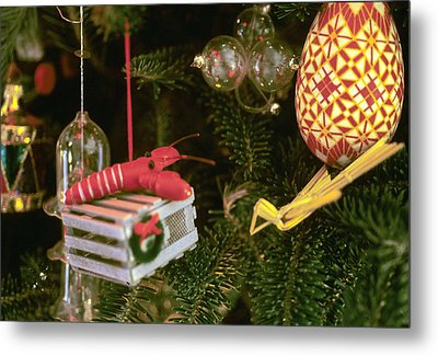 Christmas Ornaments I Metal Print by Harold E McCray