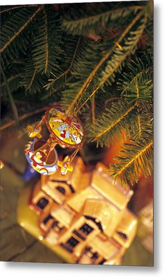 Christmas Ornaments IIi Metal Print by Harold E McCray