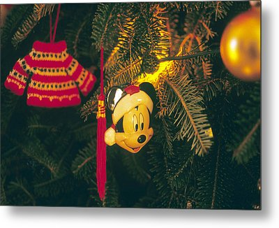 Christmas Ornaments Iv Metal Print by Harold E McCray