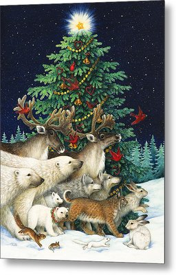 Christmas Parade Metal Print by Lynn Bywaters