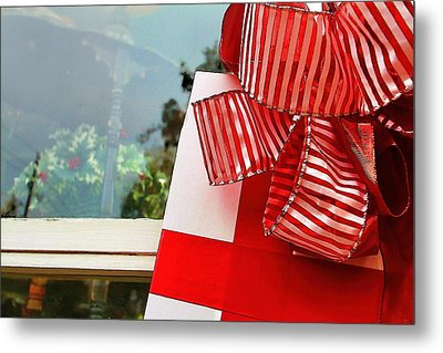 Christmas Present Metal Print by Audreen Gieger-Hawkins