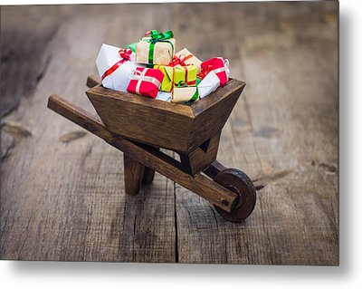 Christmas Presents Metal Print by Aged Pixel