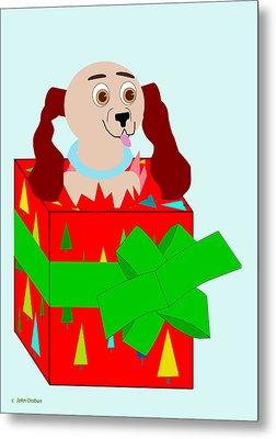 Christmas Puppy Metal Print