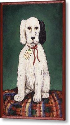 Christmas Puppy Metal Print by Linda Mears