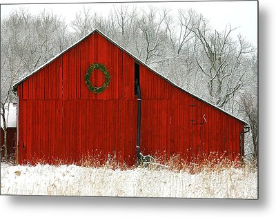 Metal Print featuring the photograph Christmas Red by Clare VanderVeen