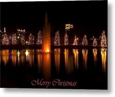 Christmas Reflection - Christmas Card Metal Print by Chris Flees