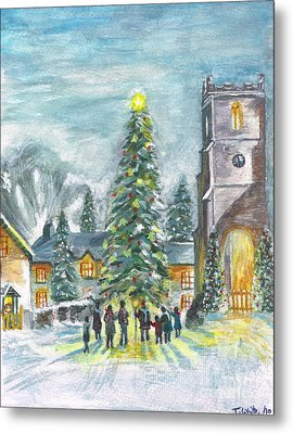 Metal Print featuring the painting Christmas Spirit by Teresa White