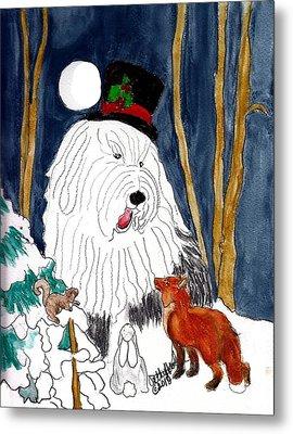 Christmas Story Teller Metal Print