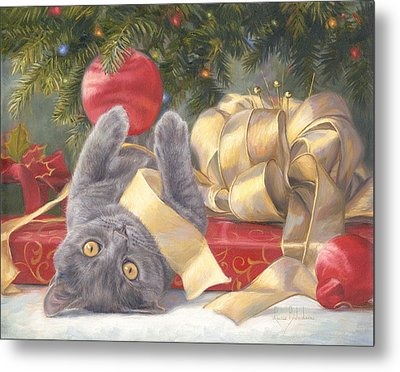 Christmas Surprise Metal Print by Lucie Bilodeau