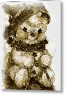 Christmas Teddy Bear Metal Print by Yanni Theodorou