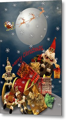 Metal Print featuring the digital art Christmas Time by Katy Breen