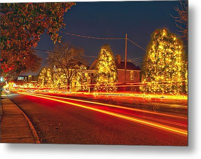 Metal Print featuring the photograph Christmas Town Usa by Alex Grichenko
